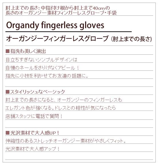 オーガンジー素材のロンググローブ